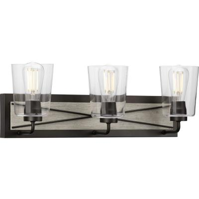 Briarwood 3-Light Graphite Bath Light