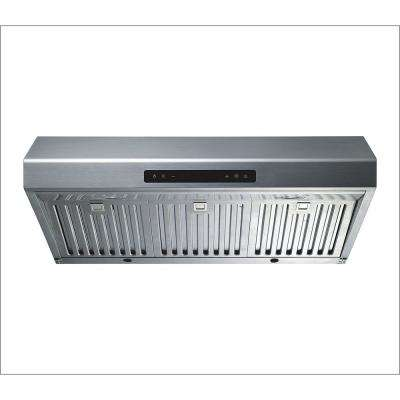 30 in. Under Cabinet Ducted Kitchen Range Hood in Stainless Steel with Baffle Filters and Touch Control