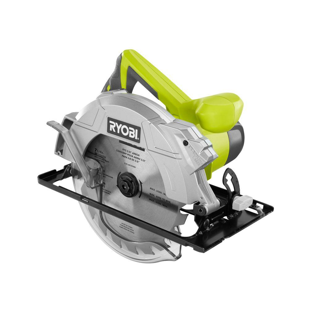 Ryobi 14 amp 7 14 in circular saw with laser csb135l the home depot circular saw with laser greentooth Images