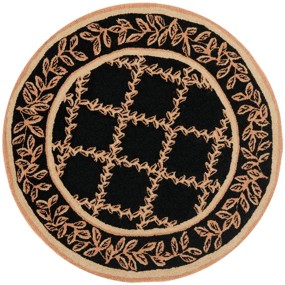 Safavieh Chelsea Black/Gold 3 ft. Round Area Rug