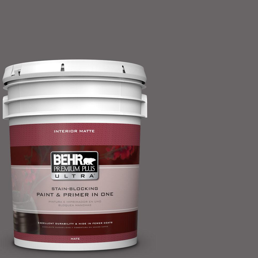 BEHR Premium Plus Ultra 5 gal. #PPU17-19 Arabian Veil Flat/Matte Interior Paint