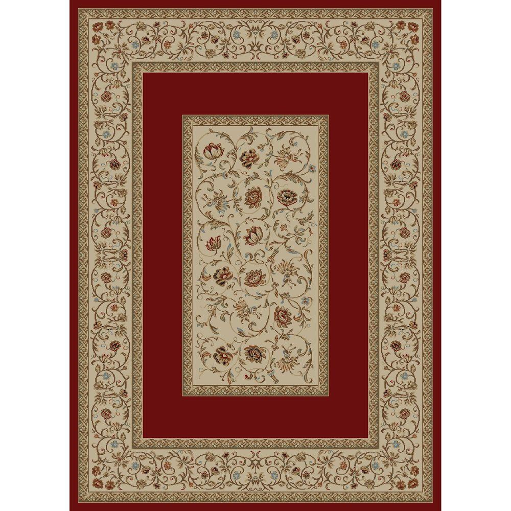 Ankara Floral Border Red 2 ft. 7 in. x 4 ft.