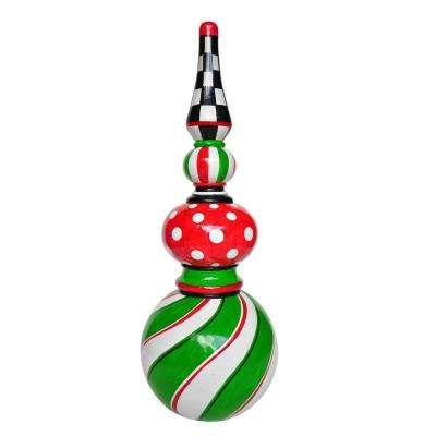2.8 ft. Green Swirl Christmas Topiary