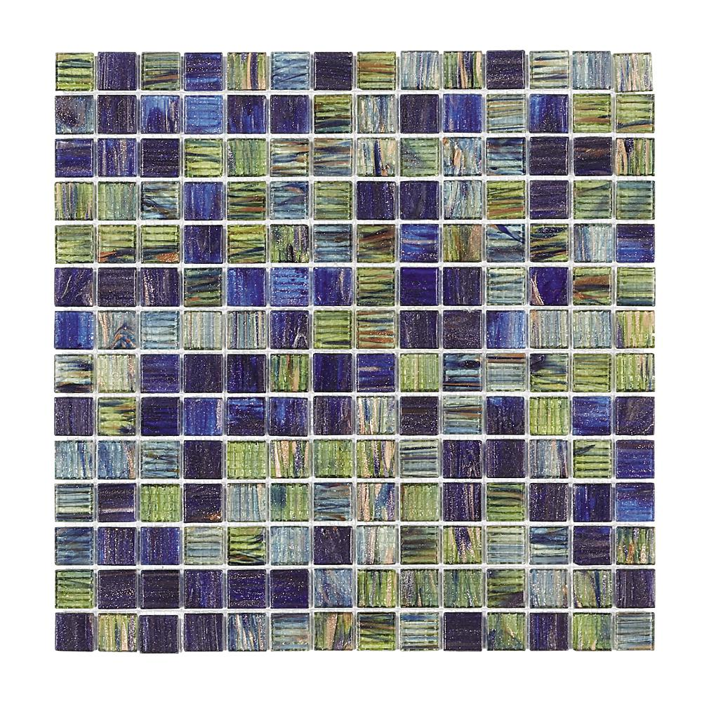 Jeffrey Court Vineyard 12 In. X 12 In. X 4 Mm Glass Mosaic