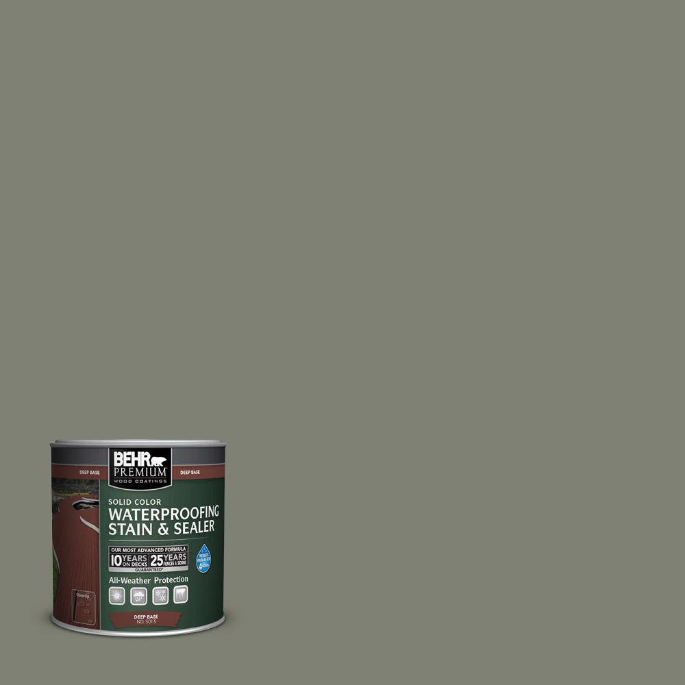 8 oz. #SC-137 Drift Gray Solid Color Waterproofing Stain and Sealer