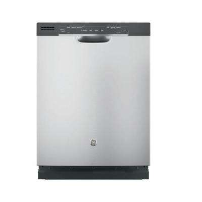 Front Control Built-In Tall Tub Dishwasher in Stainless Steel with Steam Prewash