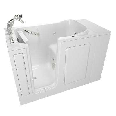 Exclusive Series 48 in. x 28 in. Left Hand Walk-In Whirlpool Tub with Quick Drain in White