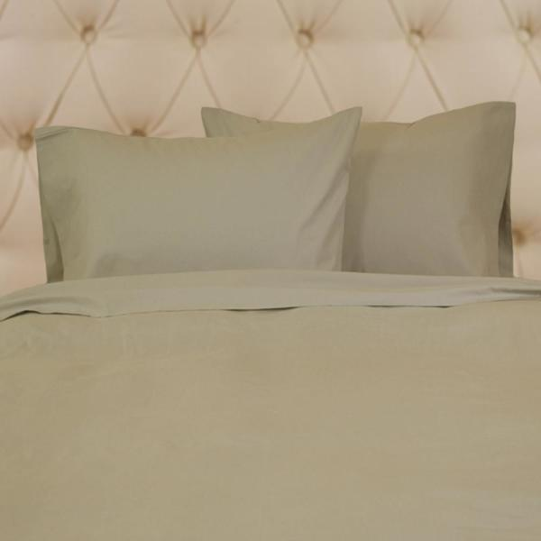 Yue Home Textile Taupe King Solid Linen Cotton Sheet Set