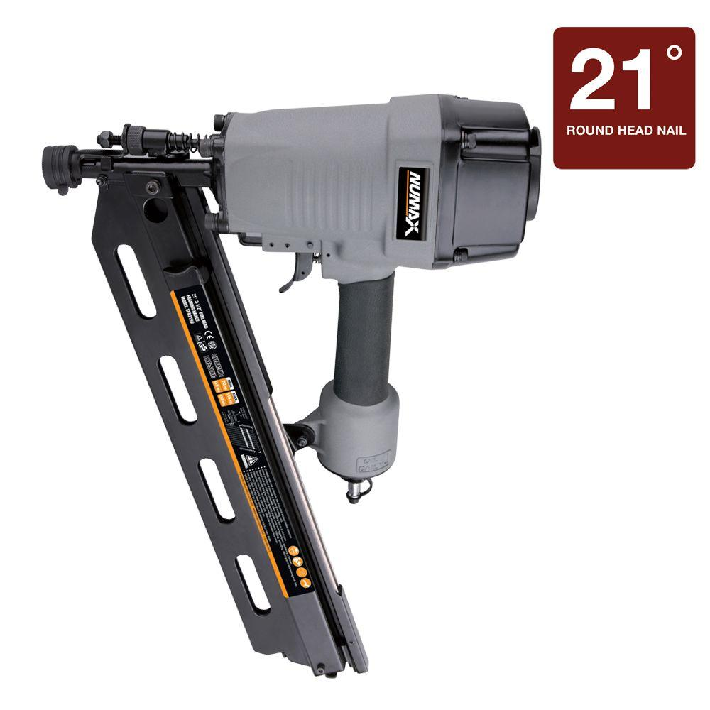 NuMax Pneumatic 21 Degree Full Head Strip Framing Nailer