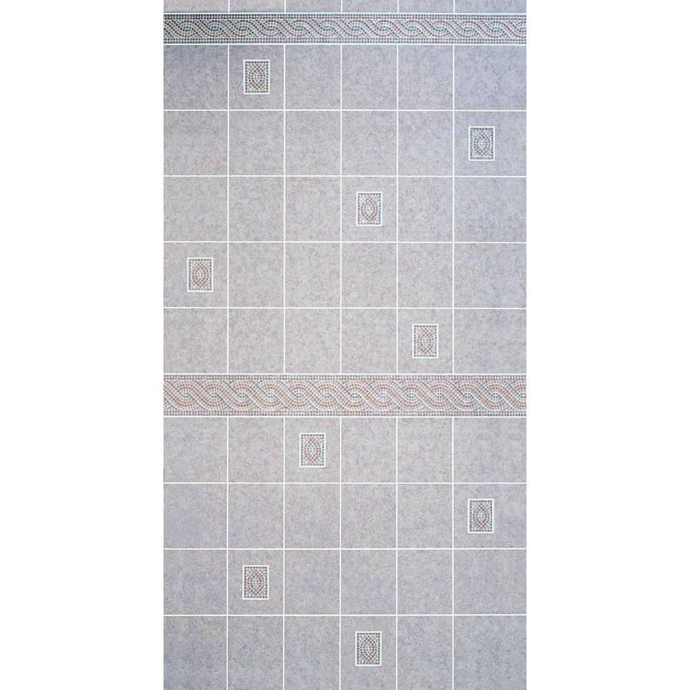 Aquatile 1/8 in. x 4 ft. x 96 in. Alicante Tile Board-709109 - The ...
