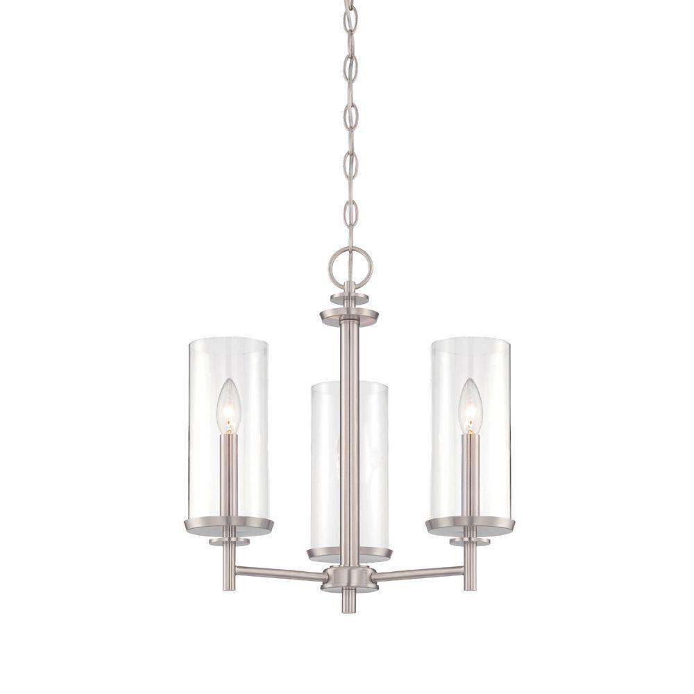Harlowe 3-Light Satin Platinum Interior Incandescent Chandelier