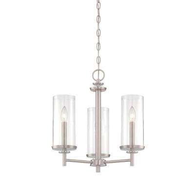 Harlowe 3-Light Satin Platinum Interior Incandescent Chandelier