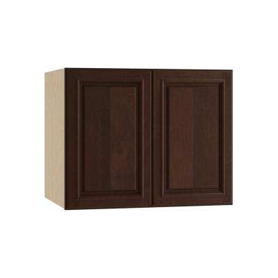 Somerset Assembled 30x24x24 in. Double Door Wall Kitchen Cabinet in Manganite