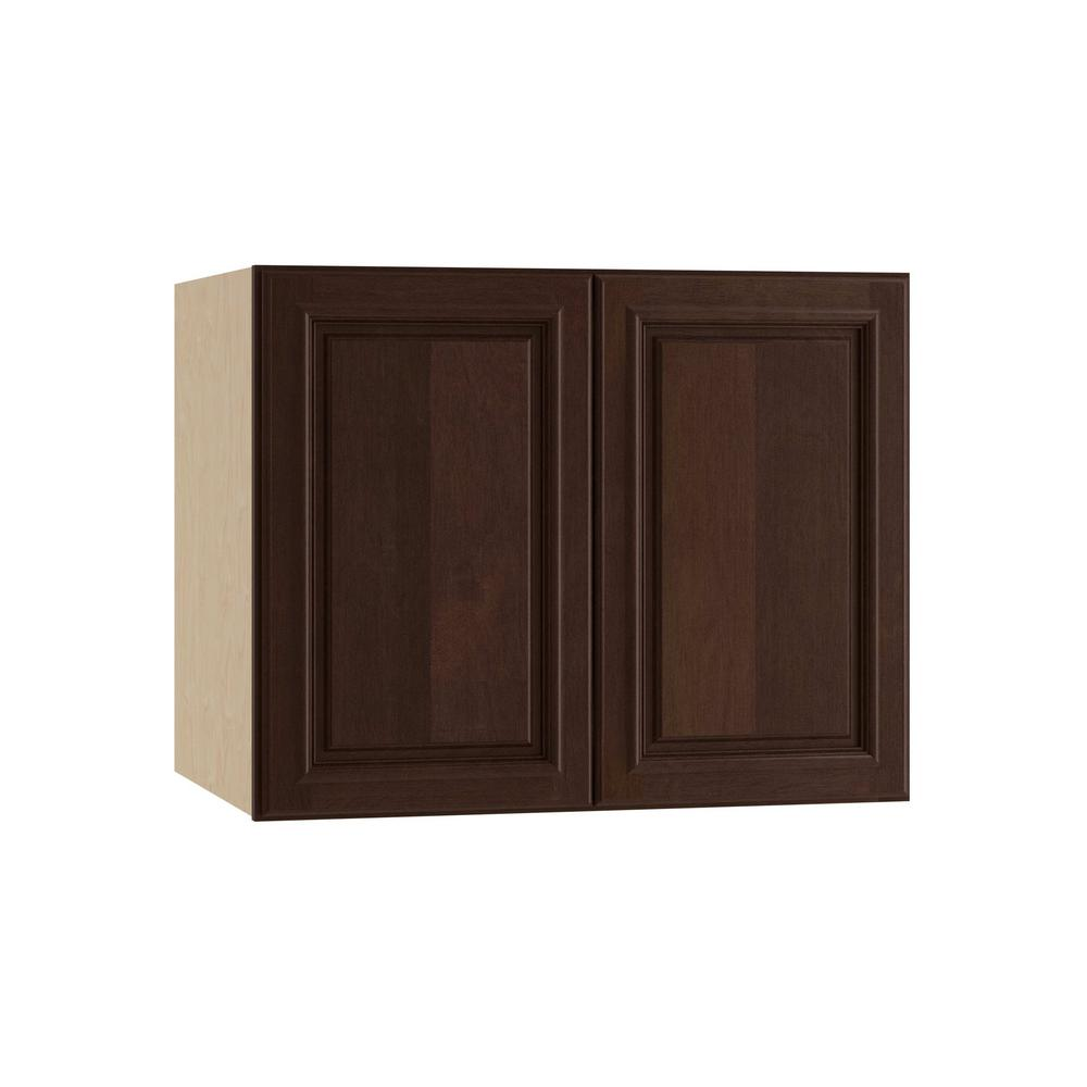 Home Decorators Collection Somerset Assembled 36x24x24 In Double Door Wall Kitchen Cabinet In