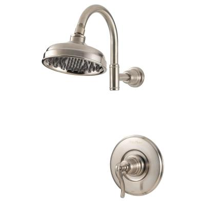 Ashfield 1-Handle Shower Faucet Trim Kit in Brushed Nickel (Valve Not Included)