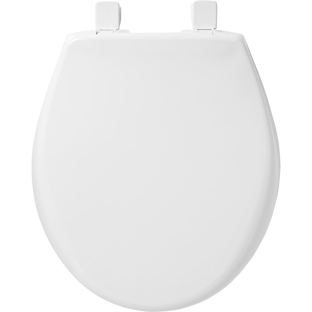 Brilliant Bemis Slow Close Round Closed Front Toilet Seat In White Pabps2019 Chair Design Images Pabps2019Com