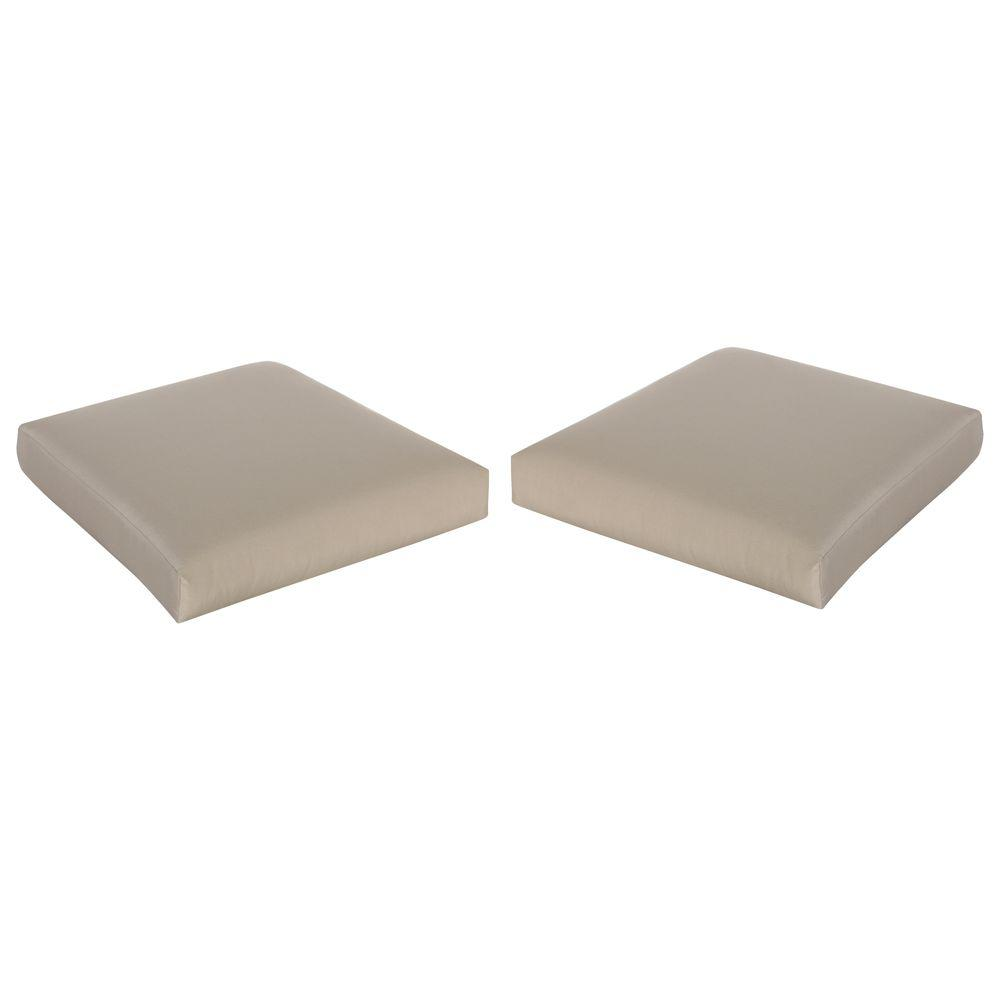 Mill Valley Solid Pair Replacement Outdoor Patio Seat Pad Set for