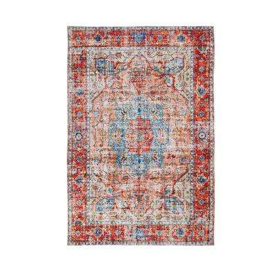 Rose Fabienne Red/Multi 8 ft. x 10 ft. Area Rug