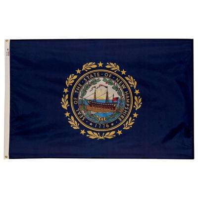 3 ft. x 5 ft. Nylon New Hampshire State Flag