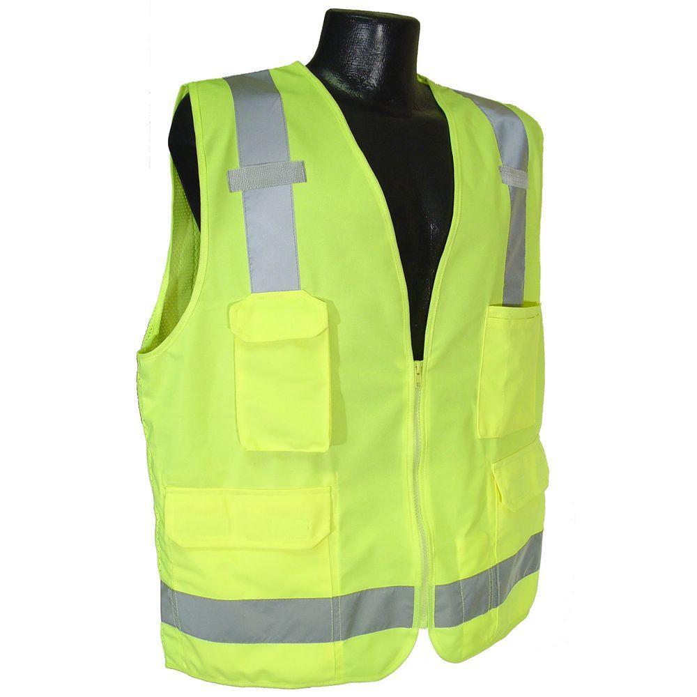 Radians Surveyor Vest Green Large Sv7gl The Home Depot