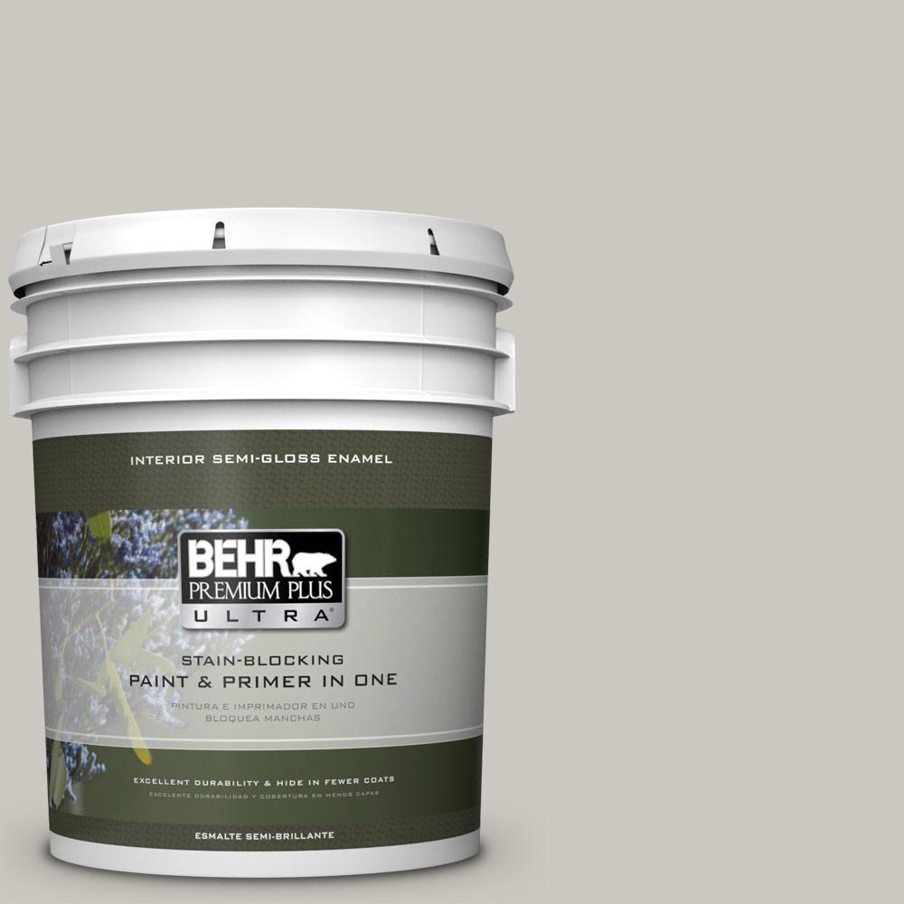 5 gal. #PPU24-12 Whitewash Oak Semi-Gloss Enamel Interior Paint