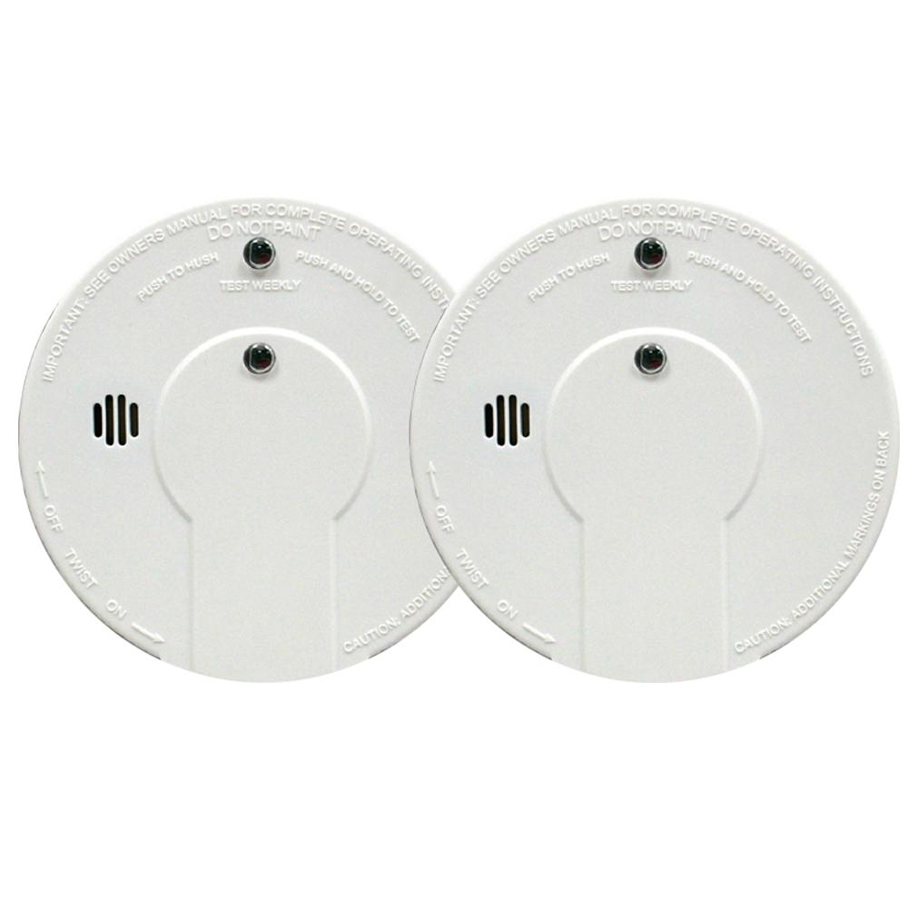 Hardwire Smoke Detector with 9V Battery Backup (2-Pack)