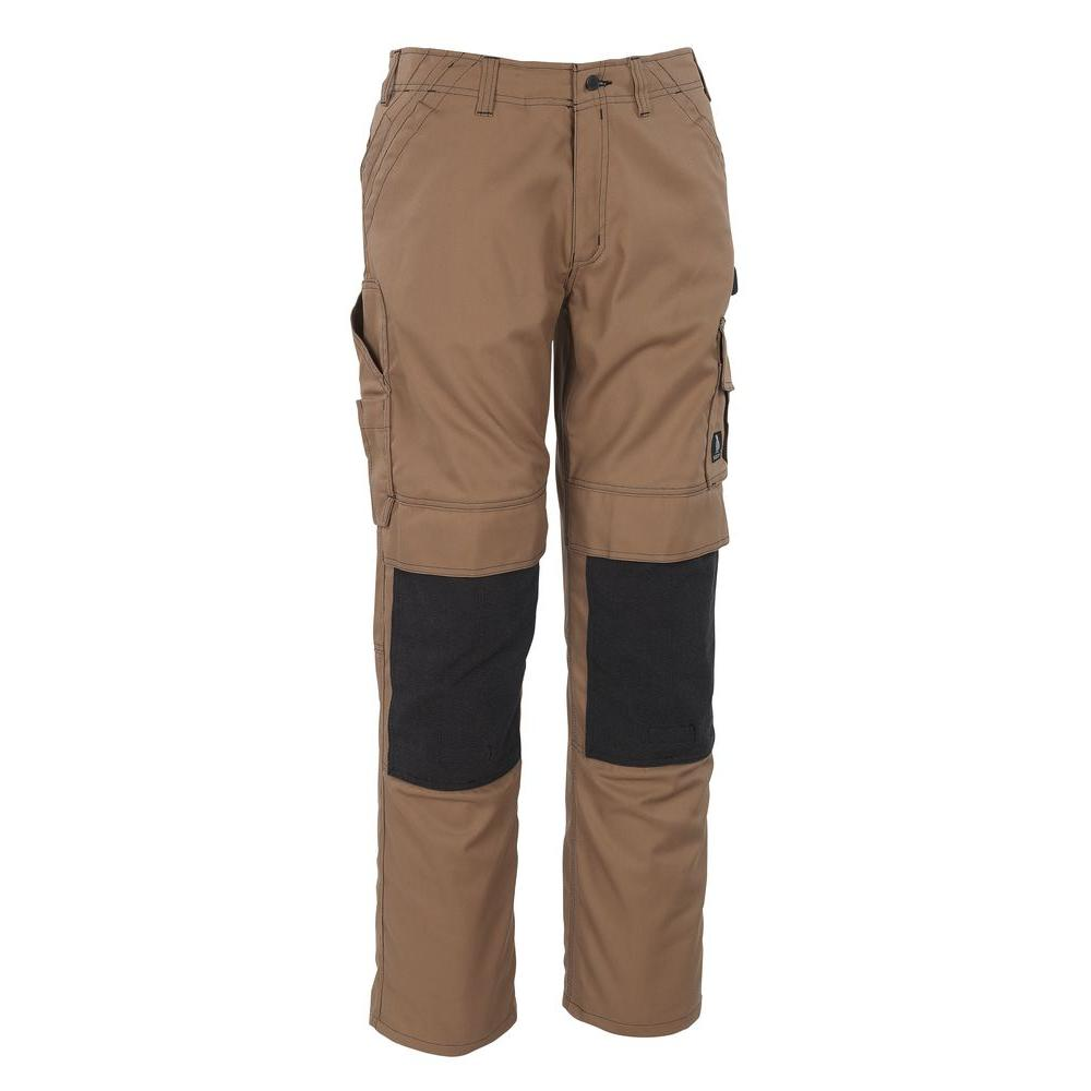 MASCOT Men's 40 in. x 32 in. Khaki 65% Polyester/35% Cotton Lerida Work Pant