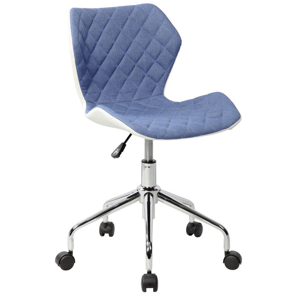 Techni Mobili Modern Height Adjustable Office Task Chair, Blue