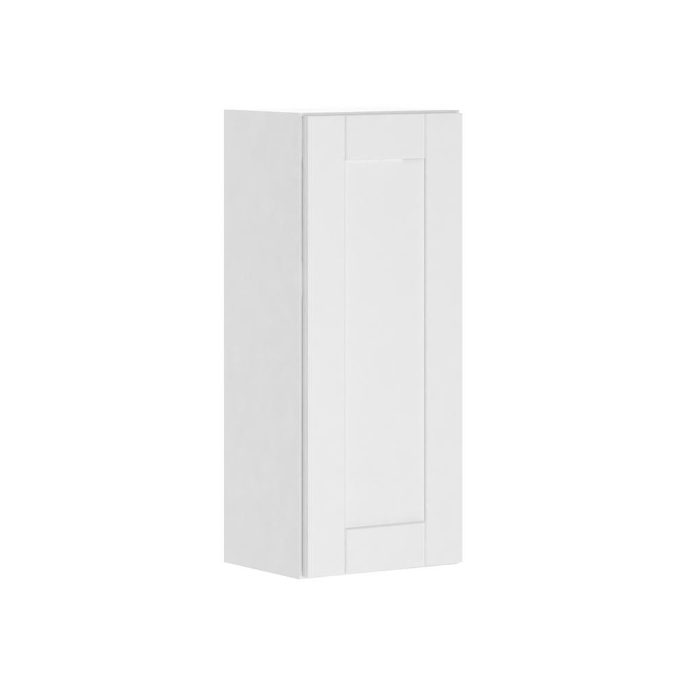Hampton Bay Princeton Shaker Assembled 15x36x12 In Wall Cabinet In Warm White W1536 Pww The