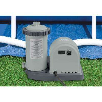 1,500 GPH Cartridge Filter Pump System for Intex Above Ground Pools