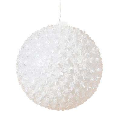 9.8 in. Dia LED Lighted Hanging Multi-Color Starlight Sphere Ball Christmas Decoration