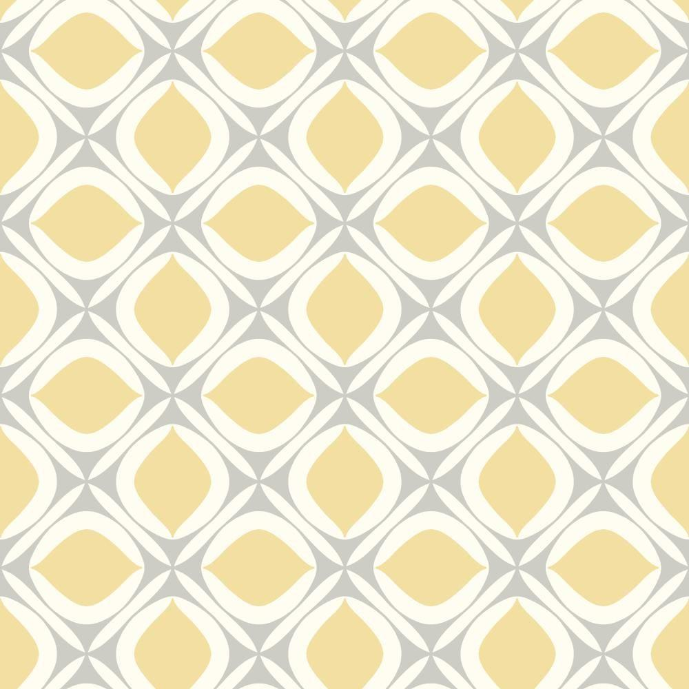 York wallcoverings pattern play foxy wallpaper hs2084 for Yellow wallpaper home depot