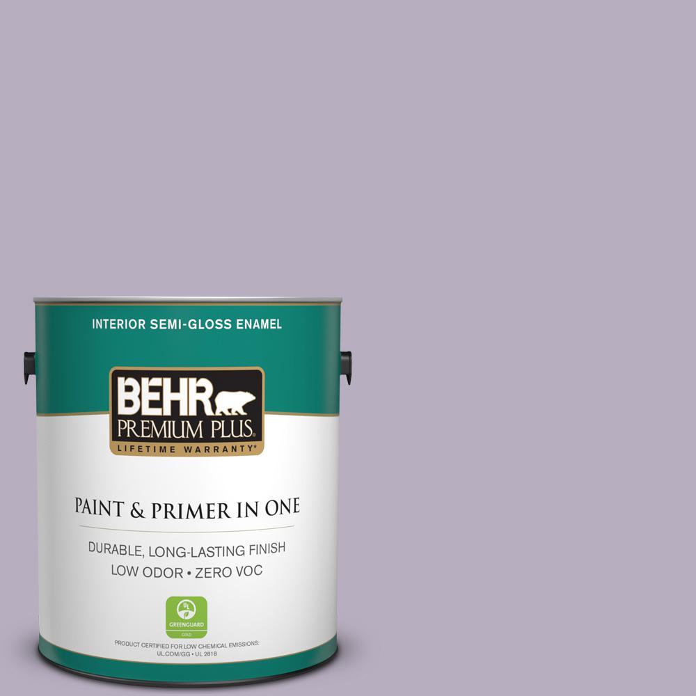 1-gal. #BIC-07 Virtuous Violet Semi-Gloss Enamel Interior Paint