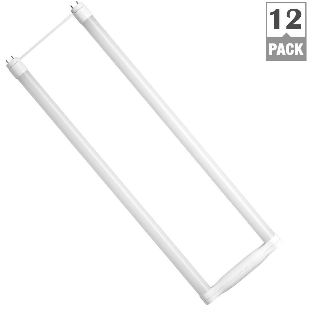 32-Watt Equivalent 11-Watt 4 ft. T8 Dimmable LED Ubend Type A Light Bulb Cool White 4000K (12-Pack) 84075