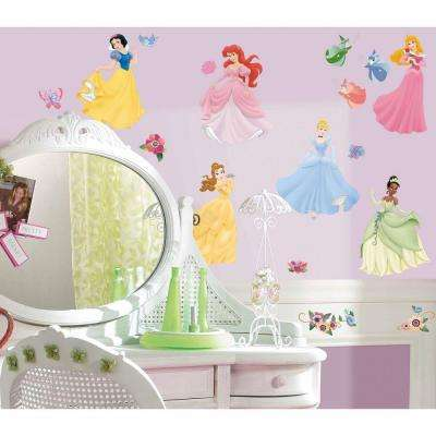 5 in. x 11.5 in. Disney Princess 37-Piece Peel and Stick Wall Decals