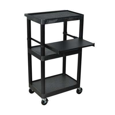 45 ft. Heady Duty A/V Cart - 3 Shelves