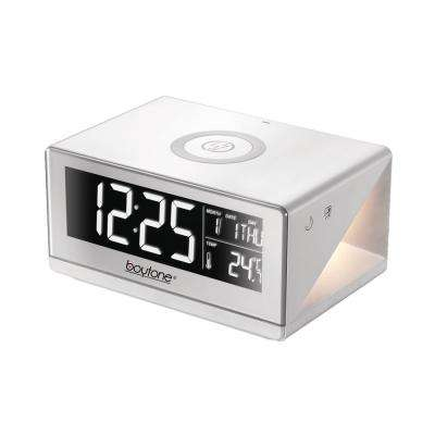 BT12W Fast Wireless Phone Charger with Alarm Clock