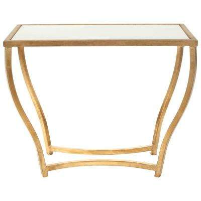 Rex White and Gold End Table