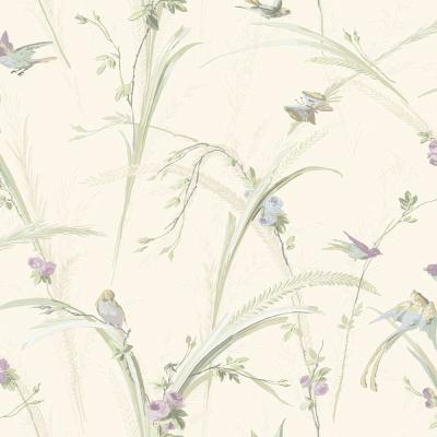 Harriet Purple Botanical Wallpaper Sample