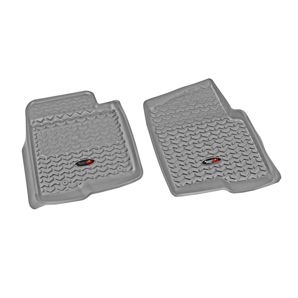 Rugged Ridge Floor Liner Front Pair Gray 2011-2013 Ford F150 All Cab