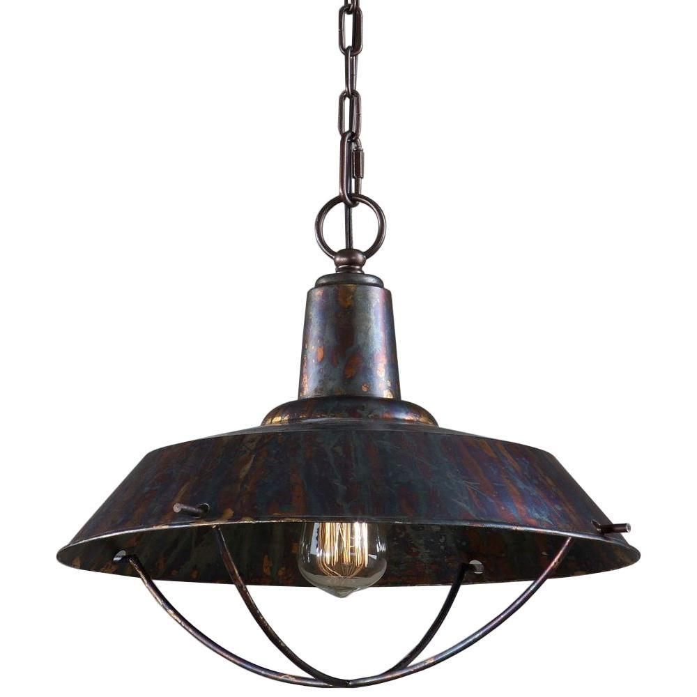 1-Light Bronze Pendant