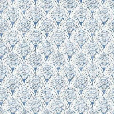 Santiago Blue Scalloped Paper Strippable Roll (Covers 56.4 sq. ft.)