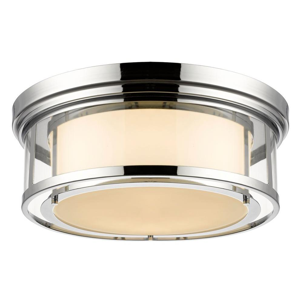 Elsey 4-Light Chrome Flushmount