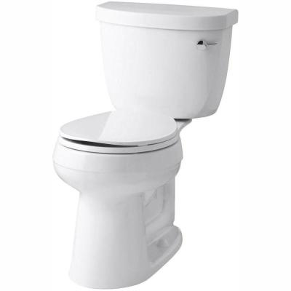 Cimarron Comfort Height 2-Piece 1.28 GPF Single Flush Round Toilet with AquaPiston Flush Technology in White