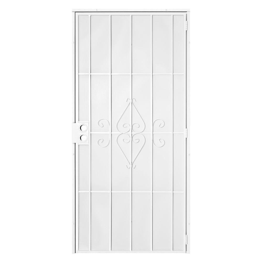 Unique Home Designs 32 In. X 80 In. Su Casa White Surface Mount Outswing