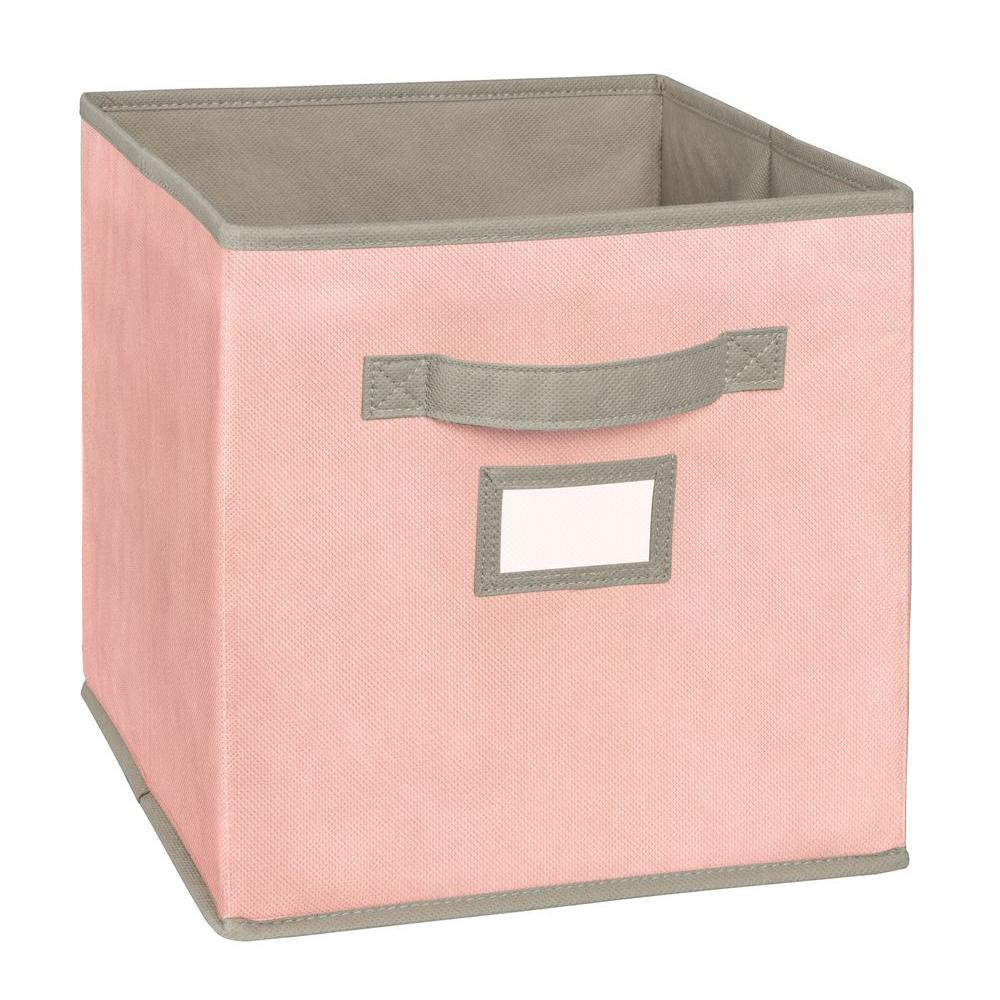 Closetmaid   In W X  In H X   In D Pink Fabric Drawer  The Home Depot