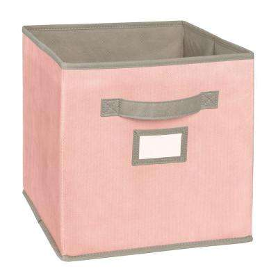 10.5 in. W x 11 in. H x 10.5 in. D Pink Fabric Drawer
