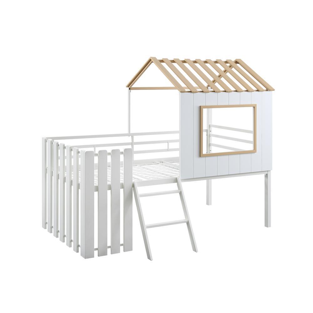 Romina Yellow Twin Novelty House Loft Bed