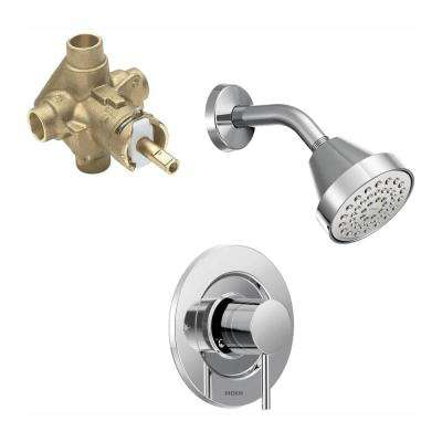 Align Single-Handle 1-Spray Shower Faucet Trim Kit with Valve in Chrome (Valve Included)