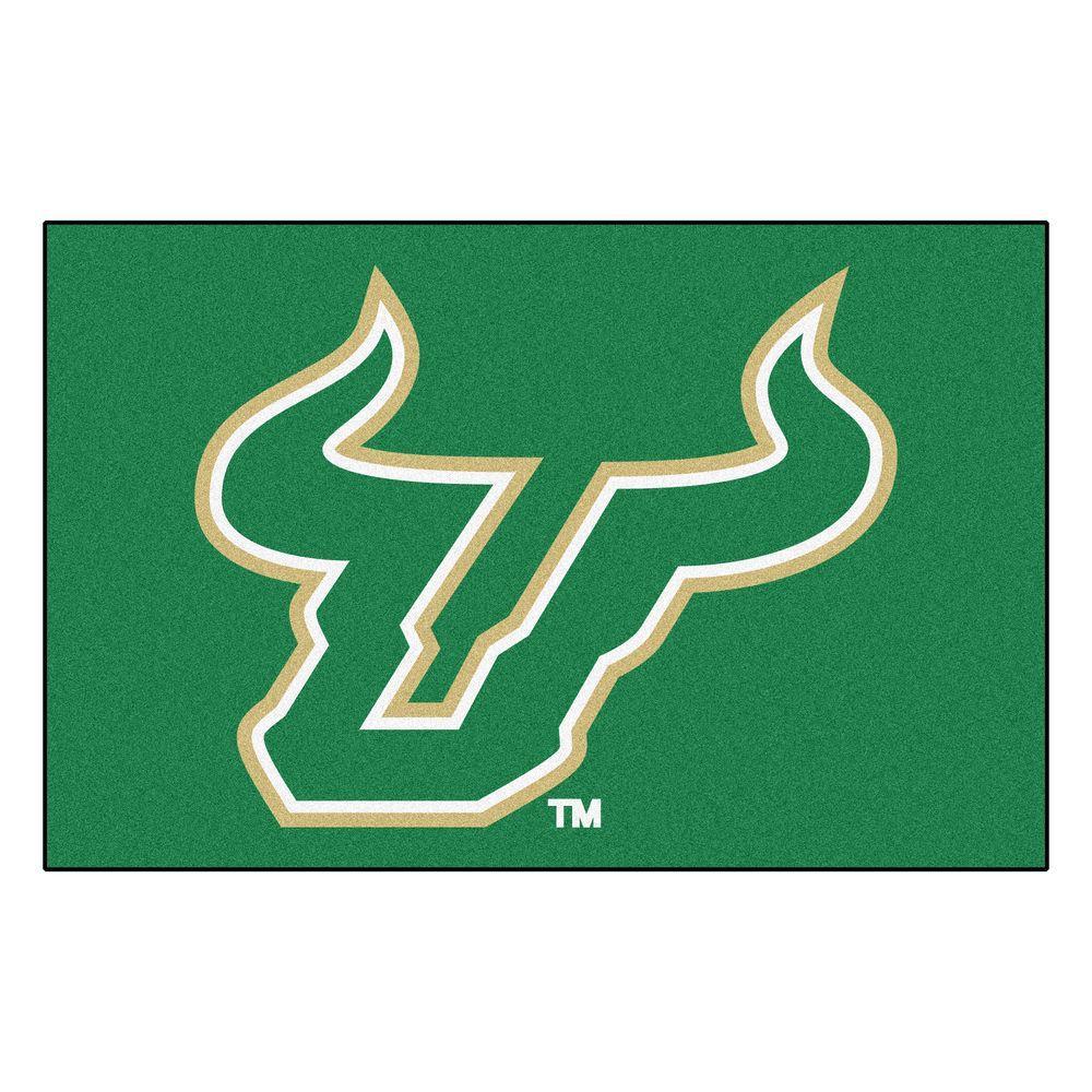 NCAA University of South Florida Green 2 ft. x 3 ft. Area Rug